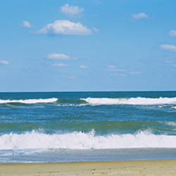 Waves in the sea, Cape Hatteras, Outer Banks, North Carolina, USA