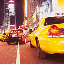 Traffic on the road, Times Square, Manhattan, New York City, New York State, USA