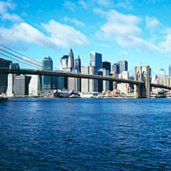 Bridge across a river, Brooklyn Bridge, East River, Manhattan, New York City, New York State, USA