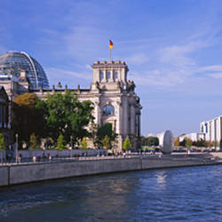 Buildings along a river, The Reichstag, Spree River, Berlin, Germany