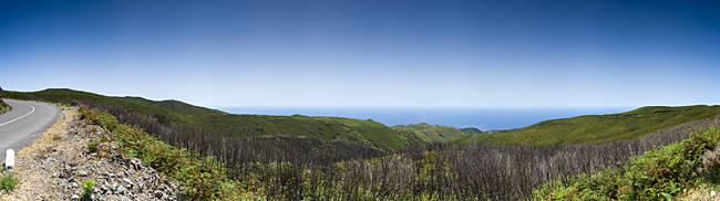 Panoramic view of mountains, Ecological Park, Fonta Do Bispo, Madeira, Portugal