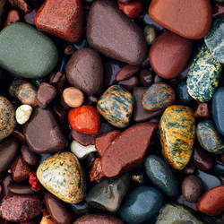 Detail of shoreline rocks, Lake Superior, Michigan, USA.