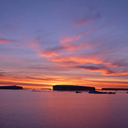 Sunset over the sea, Weddell Sea, James Ross Island