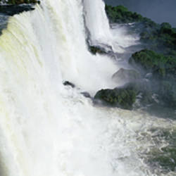 High angle view of a waterfall, Iguacu Falls, Iguacu National Park, Brazil