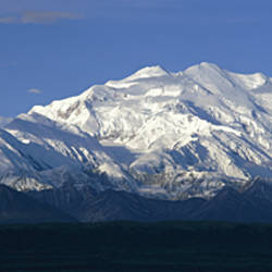 USA, Alaska, Mount McKinley, Panoramic view of a snow covered peak