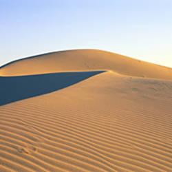 Panoramic View Of Sand Dunes In The Desert, Cadiz Dunes, Mojave Desert, USA