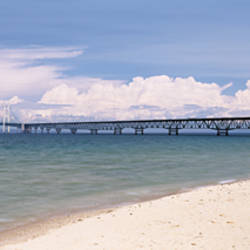 Bridge over a lake, Mackinac Bridge, Lake Michigan, Michigan, USA