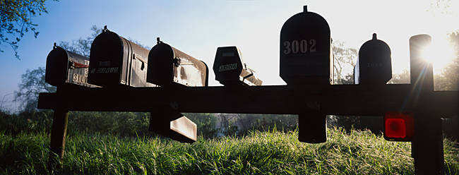 Mailboxes in a row, Napa Valley, California, USA
