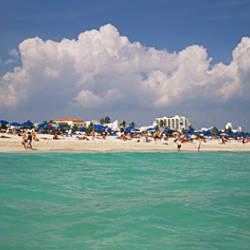 Tourists on the beach, Miami, Florida, USA