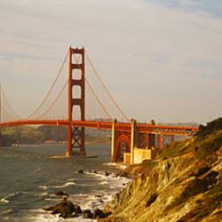 Bridge over a bay, Golden Gate Bridge, San Francisco, California, USA