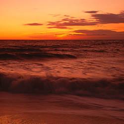 Sunrise over the sea, Monterey, Califoria, USA