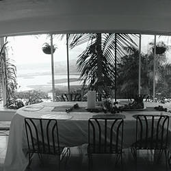 Chairs around a dining table, Montego Bay, Jamaica