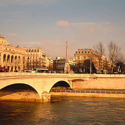 Arch bridge across a river, Paris, France