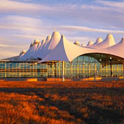 Clouded sky over an airport, Denver International Airport, Denver, Colorado, USA