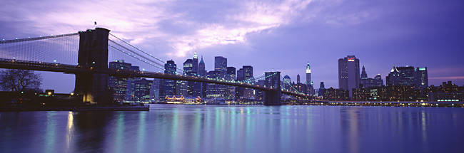 Skyscrapers In A City, Brooklyn Bridge, NYC, New York City, New York State, USA
