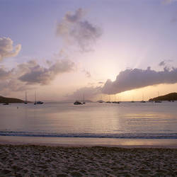 US Virgin Islands, St. John, Virgin Islands National Park, Francis Bay, Boats in the sea