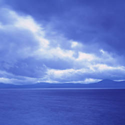 USA, California, Lake Tahoe, Storm cloud over a lake