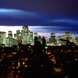 Storm Clouds Over A City, Crescent Drive, Calgary, Alberta, Canada