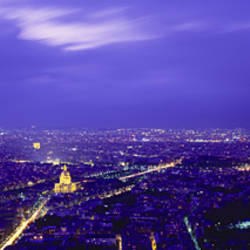 Aerial View Of A City, Paris, France