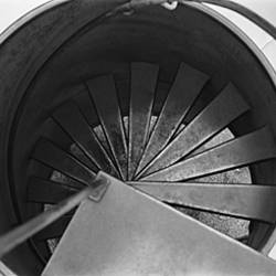 High Angle View Of A Spiral Staircase