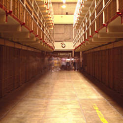 Cell Block In A Prison, Alcatraz Island, San Francisco, California, USA