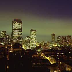 Buildings Lit Up At Night, San Francisco, California, USA