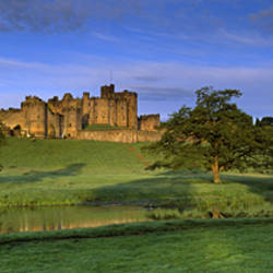 View Of A Castle, Alnwick Castle, Northumberland, England, United Kingdom