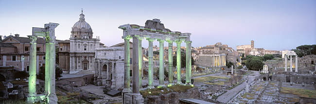 Ruins of an old building, Rome, Italy
