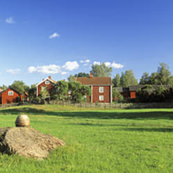 Houses in a landscape, Stenjo, Sweden