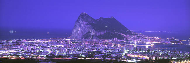 High Angle View Of A City, Gibraltar, Spain
