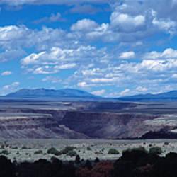 Clouds over a landscape, Rio Grande Gorge, Taos, New Mexico, USA