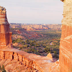 High Angle View Of A Rock Formation, Palo Duro Canyon State Park, Texas, USA