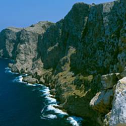 High Angle View Of A Coastline, Formentor, Majorca, Spain