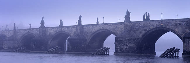 Bridge over a river, Charles Bridge, Prague, Czech Republic