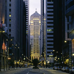 Buildings in a city, LaSalle Street, Chicago Board Of Trade, Chicago, Illinois, USA
