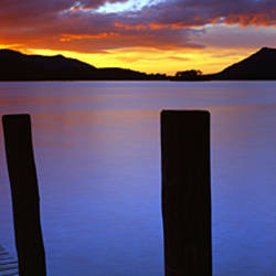 Ashness Jetty At Dusk, Sunset, England, United Kingdom