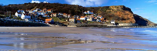 Town At The Waterfront, Runswick Bay, North Yorkshire, England, United Kingdom