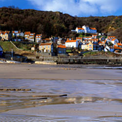 Town At The Waterfront, Runswick Bay, North Yorkshire, England, United Kingdom