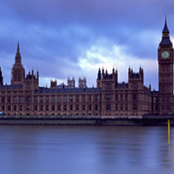 Government Building At The Waterfront, Big Ben And The Houses Of Parliament, London, England, United Kingdom