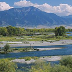 High angle view of a lake, Snake River, Swan Valley, Bonnev, Idaho, USA