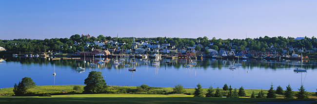 Reflection Of Boats In Water, Lunenburg, Nova Scotia, Canada