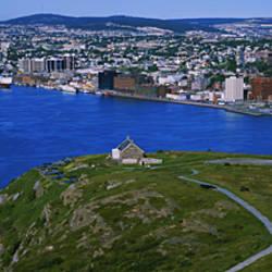 High Angle View Of A City, Signal Hill, Saint John's, Newfoundland And Labrador, Canada