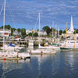 Sailboats in the sea, Camden, Maine, USA