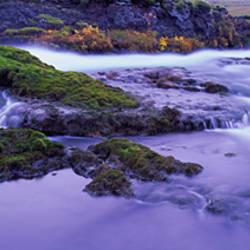 Rocks in a river, Fjallabak Nature Reserve, Central Highlands, Iceland