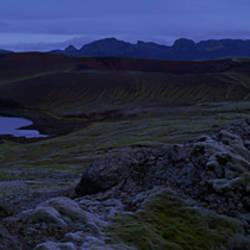 Lake on a landscape, Lake Hraunsvotn, Central Highlands, Iceland