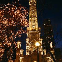 Old Water Tower, Intersection of Michigan and Chicago Avenue, Chicago, Illinois, USA