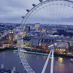 Ferris wheel in a city, Millennium Wheel, London, England
