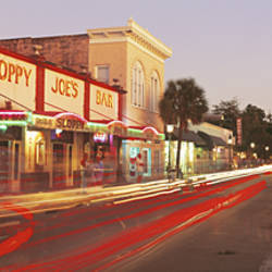 USA, Florida, Key West, Duval Street, Sloppy Joe's Bar illuminated at night