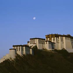 Low angle view of Potala Palace at dawn, Lhasa, Tibet