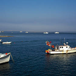 Fishing boats in an ocean, Cape Cod, Chatham, Barnstable County, Massachusetts, USA